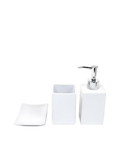 Nameek's 3-Piece Verbena Bath Set, White