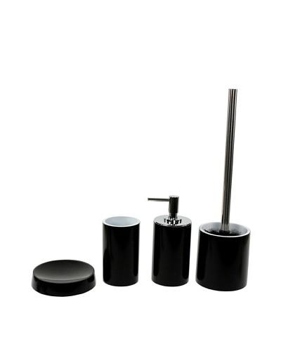 Nameek's 4-Piece Piccollo Bath Set, Black