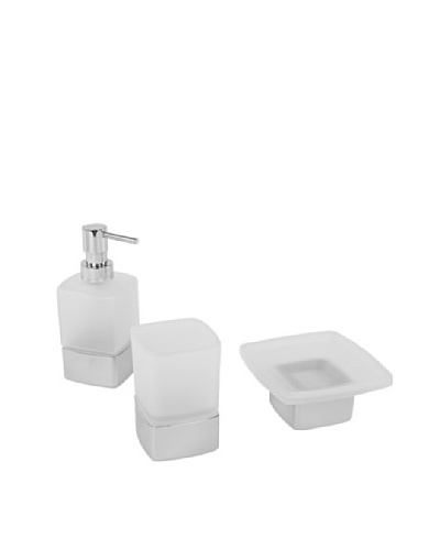 Nameek's 3-Piece Lounge Bath Set, Polished Chrome