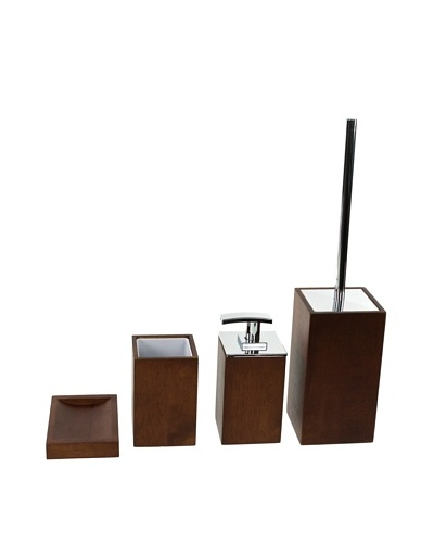 Nameek's 4-Piece Cubico Bath Set, Brown