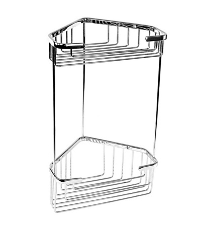 Nameek's Wire Corner Shower Shelf, Polished Chrome, 2-Basket
