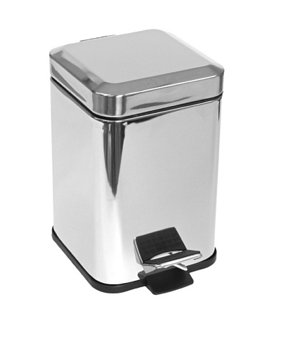 Nameek's Argenta Square Waste Bin, Polished Chrome