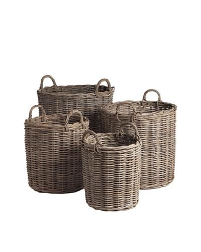 Napa Home & Garden Set of 4 Normandy Round Baskets