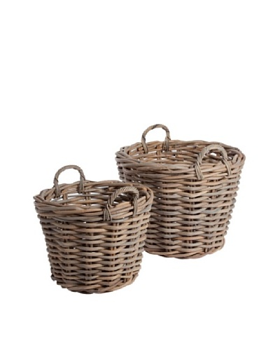 Napa Home & Garden Set of 2 Normandy Rattan Tree Baskets