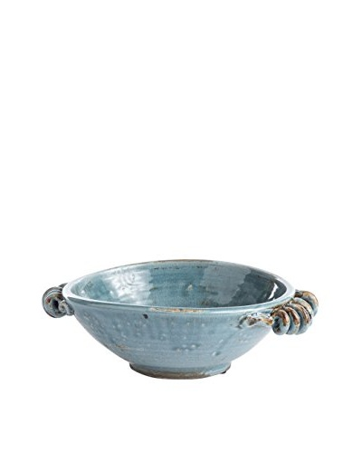Napa Home and Garden Leone Low Bowl, Steel Blue