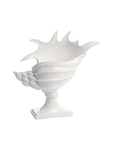 Napa Home and Garden Conch Shell On Stand, White