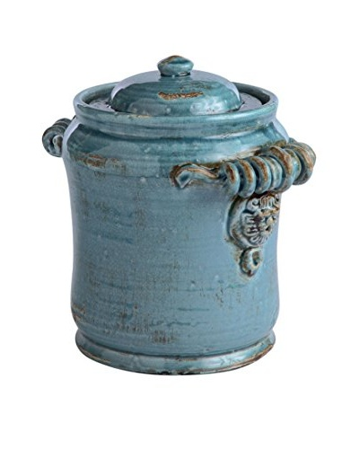 Napa Home and Garden Leone Lidded Canister, Steel Blue