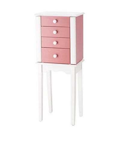 Nathan Direct Promo Three Drawer Jewelry Armoire, Pink