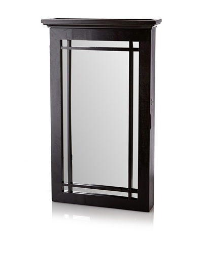 Nathan Direct Border Wall Armoire With Lock, Black