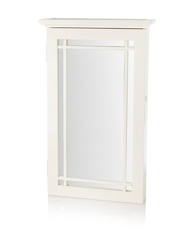 Nathan Direct Border Wall Armoire With Lock, White