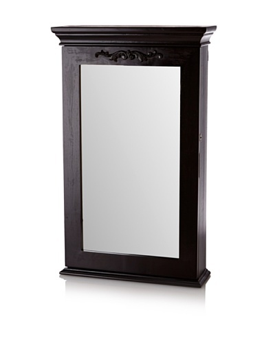 Nathan Direct Morris Wall Armoire With Lock, Black