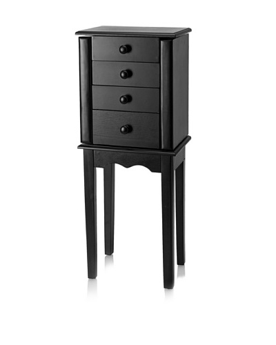 Nathan Direct Promo Three Drawer Jewelry Armoire, Black