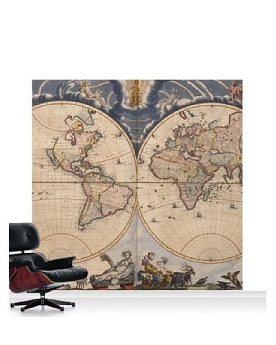 National Maritime Museum Bleau Atlas Mural, Standard, 8' x 8'