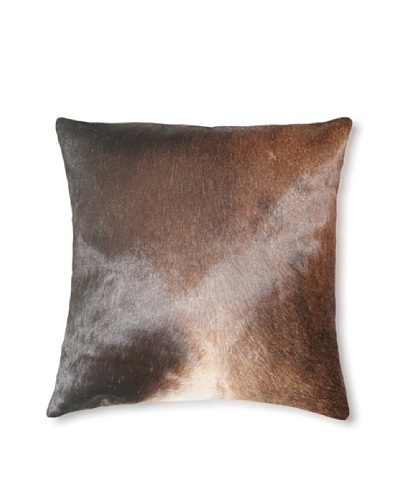 Natural Torino Cowhide Pillow, Normand, 16 x 16
