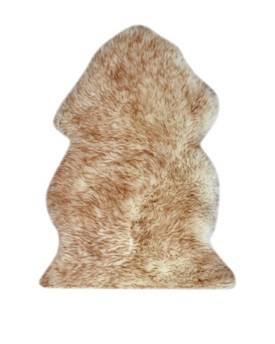 Natural New Zealand Sheepskin Rug, Single, Gradient Brown, 2' x 3'