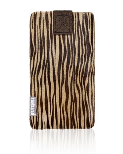 Natural Cowhide iPhone Case, Zebrina, 2.5 x 5