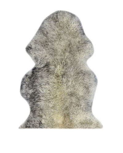Natural New Zealand Single Sheepskin Rug, Gradient Grey, 2' x 3'