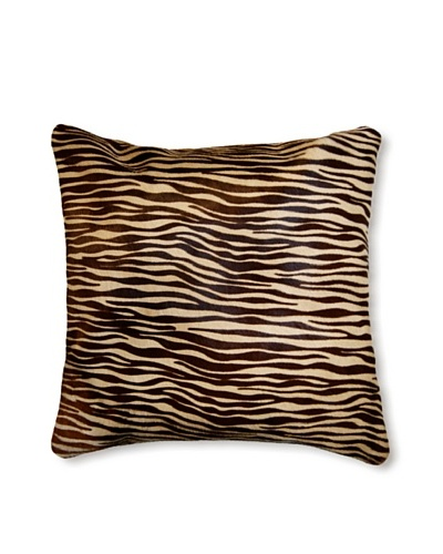 "Natural Torino Cowhide Pillow, Baby Tiger, 16"" x 16"""