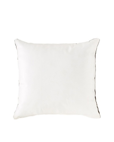 Natural Brand Sienna Leather Pillow, White