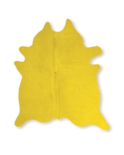 Natural Brand Geneva Cowhide Rug, Yellow, 7' x 5' 5