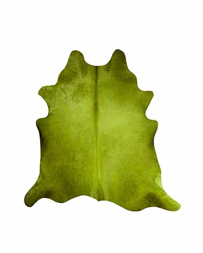 Natural Brand Geneva Cowhide Rug, Lime, 7' x 5' 5""