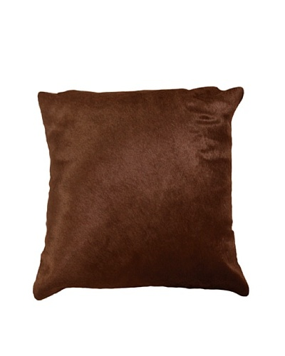 Natural Brand Torino Cowhide Pillow, Brown, 16 x 16