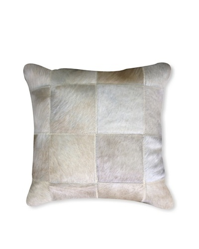 Natural Brand Torino Patchwork Pillow, Natural, 15 x 15