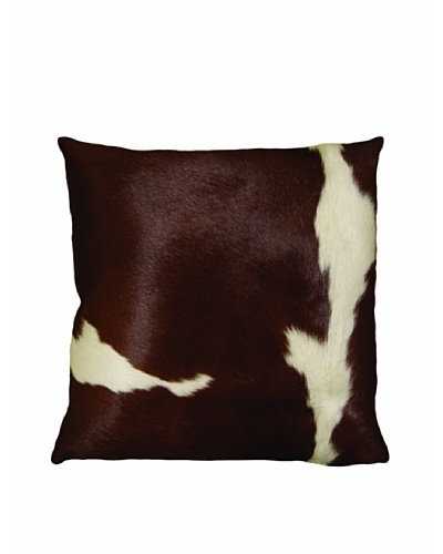 Natural Brand Torino Cowhide Patchwork Pillow, Brown/White