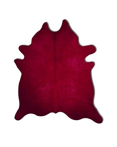 Natural Brand Geneva Cowhide Rug, Burgundy, 7' x 5' 5