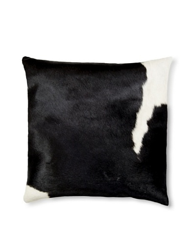 Natural Brand Torino Cowhide Pillow, Black/White, 16 x 16