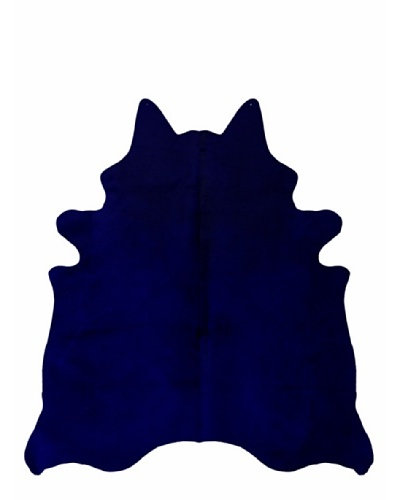 Natural Brand Geneva Cowhide Rug, Navy, 6' x 7'
