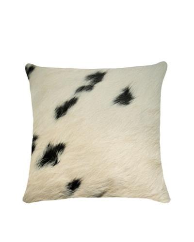 Natural Brand Torino Cowhide Pillow, White/Black