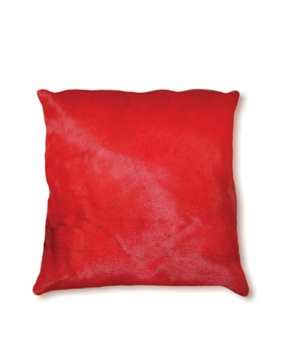 Natural Brand Torino Cowhide Pillow, Red, 16 x 16