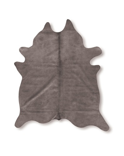 Natural Brand Geneva Cowhide Rug, Grey, 7' x 5' 5As You See