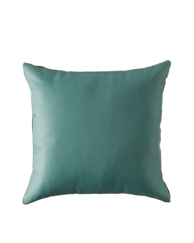 Natural Brand Sienna Leather Pillow, Turquoise, 16 x 16