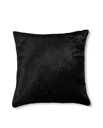 Natural Brand Torino Cowhide Pillow, Black