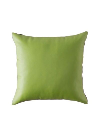 Natural Brand Sienna Leather Pillow, Lime, 16 x 16