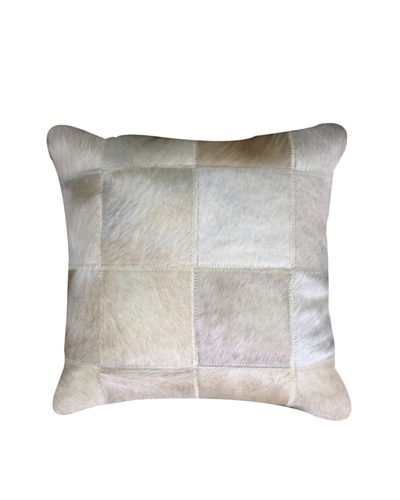 Natural Brand Torino Cowhide Patchwork Pillow, Natural