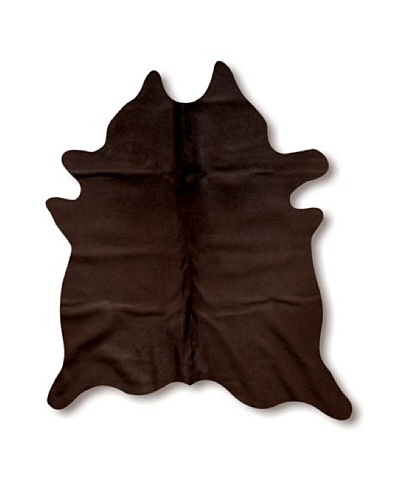 Natural Brand Geneva Cowhide Rug, Chocolate, 7' x 5' 5