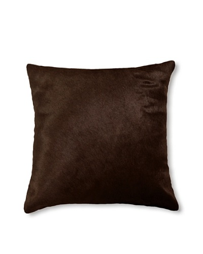 Natural Brand Torino Cowhide Pillow [Chocolate]