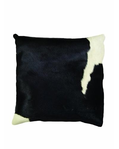 Natural Brand Torino Cowhide Pillow, Black/White