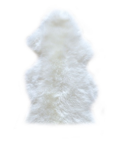 Natural Brand New Zealand Sheepskin Rug, Natural, 2' x 3'