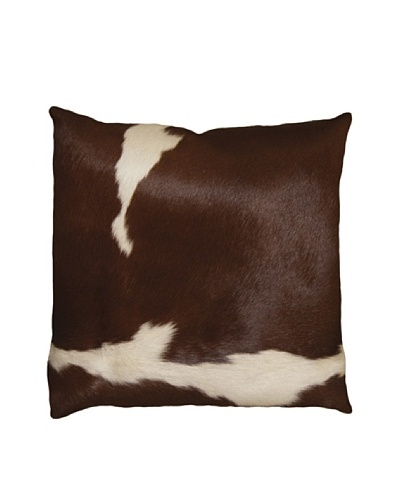 Natural Brand Torino Cowhide Pillow, Brown & White