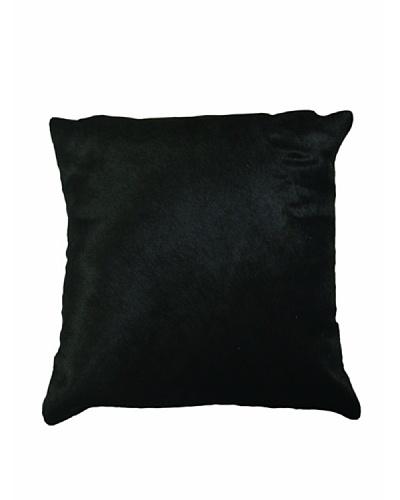 Natural Brand Torino Cowhide Pillow, Black