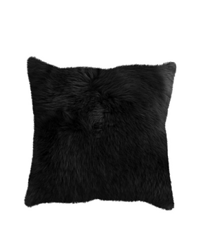 Natural Brand New Zealand Sheepskin Pillow, Black