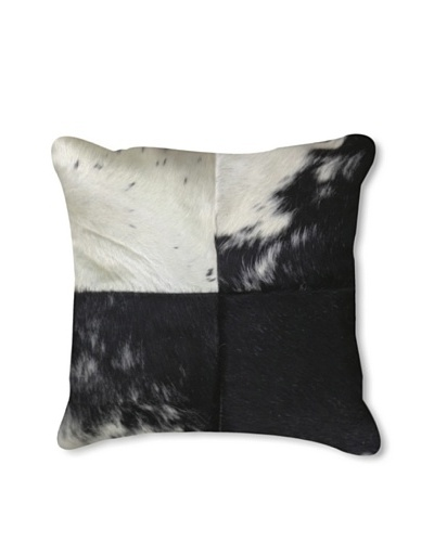 "Natural Brand Torino Patchwork Pillow, Black/White, 15"" x 15"""