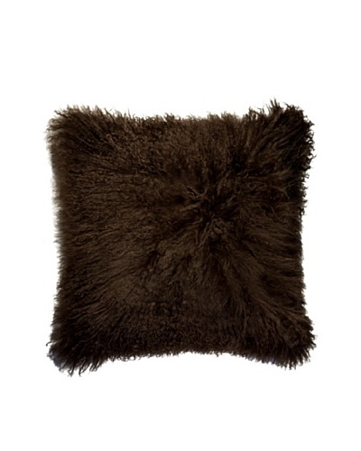 Natural Brand Mongolian Sheepskin Pillow, Chocolate