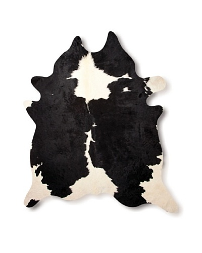 Natural Brand Kobe Cowhide Rug, Black/White, 5'6 x 7'