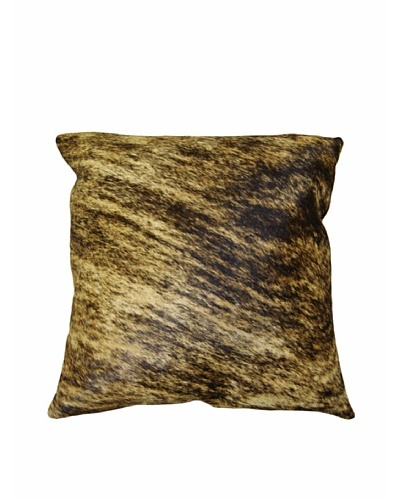 Natural Brand Torino Cowhide Pillow, Classic Brindle