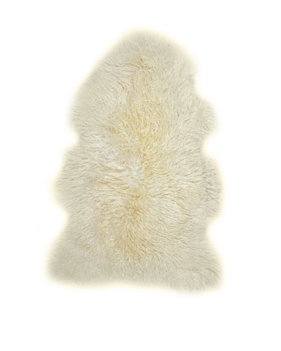 Natural Brand New Zealand Single Curly Sheepskin Rug, Natural, 2' x 3'